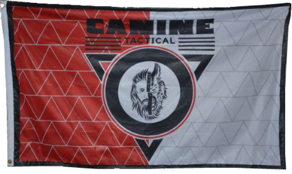 Double Sided Canine Tactical Flag