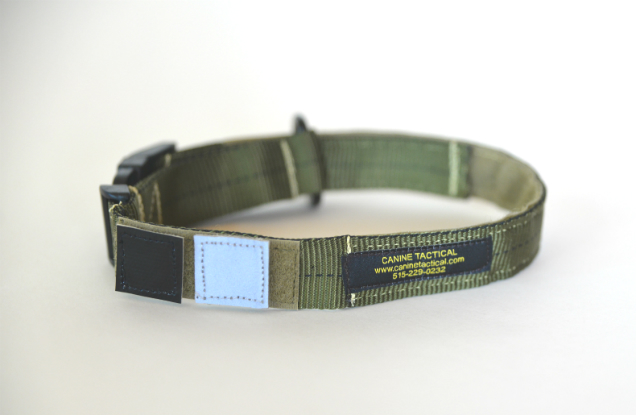 IR & Reflective patches on canine collar